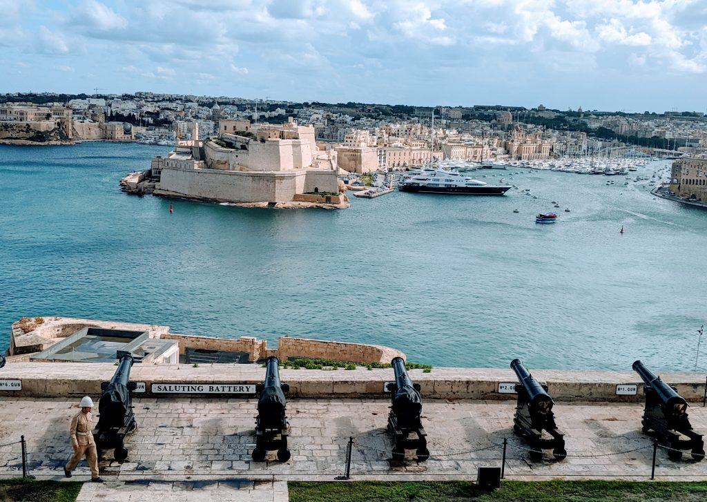 церемония топовни залпове в Малта, saluting battery Malta