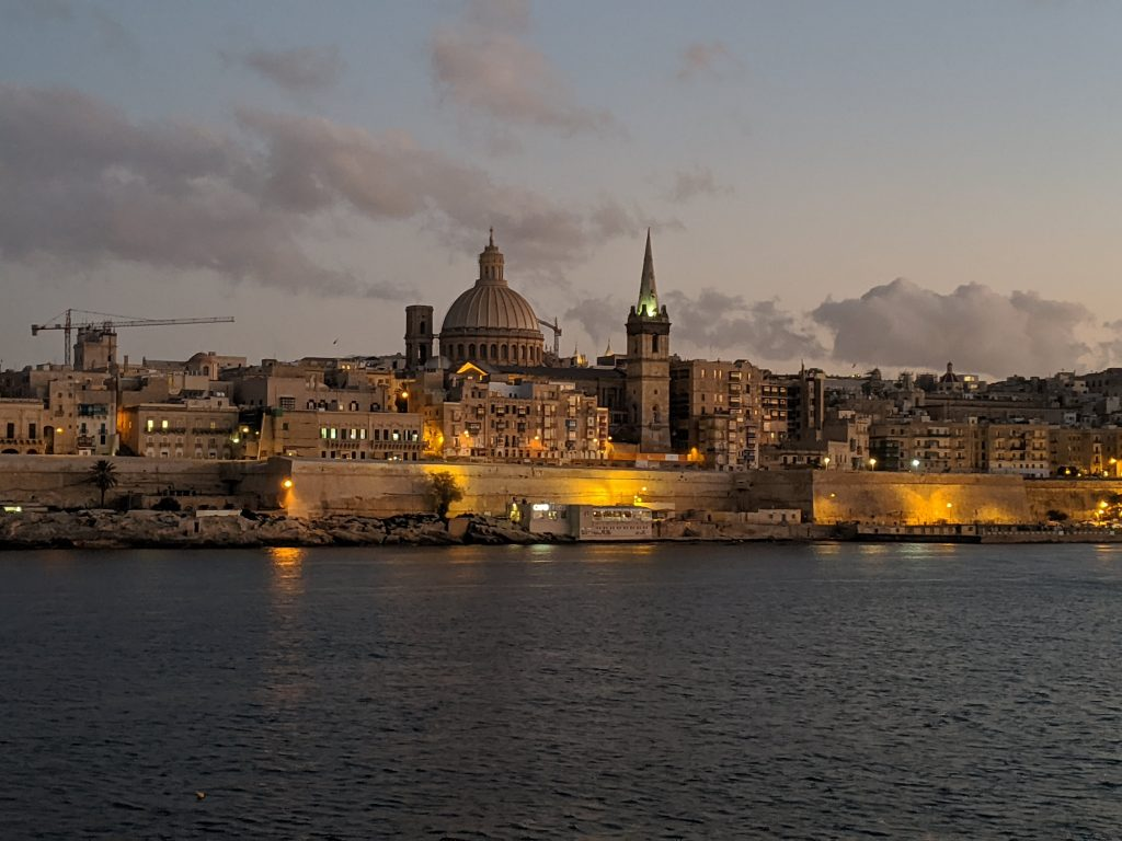 Valetta by night