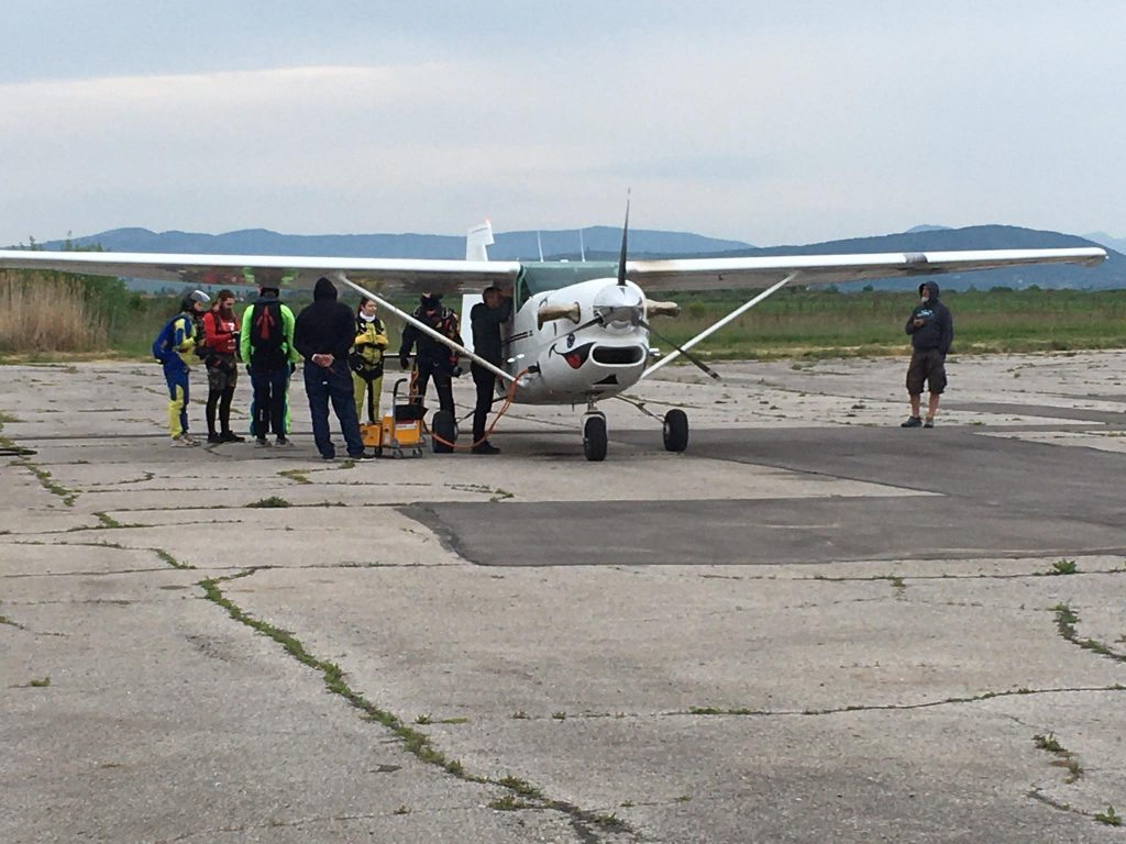 airplane for tandem skydiving, Bulgaria